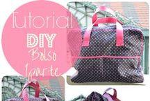 DIY Bags - Monederos/ bolsos / Ideas to sew your own bags, clutchs, pouches...DIY  de bolsos, carteras, neceseres,...