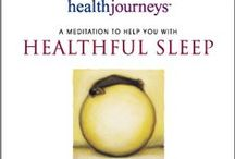Blissful Healthful Sleep ~ Health Journeys style / Different resources for getting some decent rest in this crazy world.....
