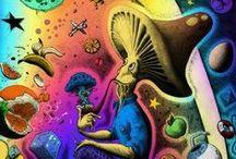 """Psychédélique / « Voici les clef d'un voyage sans limite sur les chemins tortueux de la conscience."""" (Christine Guyot)"""