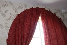 Dressing an arched window / Making bespoke curtains for an arch shaped window