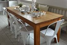 Tischdeko zu Ostern / Tischdekoration zu Ostern, Osterdeko, Rezept Buttermilchhörnchen