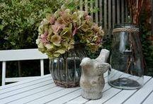 Spätsommergruß / Hortensien, Dekoration mit Hortensien