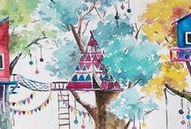 Watercolor Whimsy / I love watercolors! These are a collection of my favorite pieces, plus other things that inspire my own watercolor work (colors, patterns, other mediums, etc)