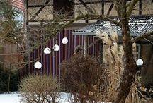 Eiskugeln im Garten / Eiskugel DIY, Gartendekoration im Januar