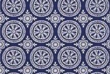 Blue fabrics / Fabrics in all shades of blue