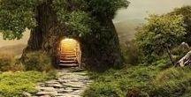 """Chemin & Sentier (2) / """"Les gens simples vont tout droit leur chemin, à moins qu'il n'y ait une barricade qui les contraigne à faire un détour.""""   [Alphonse Allais ]"""