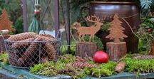 Adventsstimmung im Garten / Außendekoration im Winter, natürliche Weihnachtdeko, Gartendekoration im Winter, Shabby