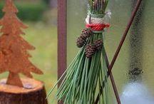 Quasten DIY / Quasten aus Kiefernadeln, DIY zur Weihnachtszeit, Weihnachtsdeko, natürliche Weihnachtsdekoration