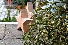 Sternenstunde / Holzsterne DIY, Misteln, Außendekoration im Winter, Außendekoration im Dezember, Außendekoration zur Weihnachtszeit, Dekoration mit Zinkgefäßen