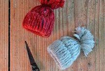 Mützen DIY / Mützen DIY, kleine Wollmützen, Winterdekoration