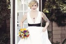 Offbeat Wedding Ideas / Gorgeous looks and ideas for the offbeat bride and groom!