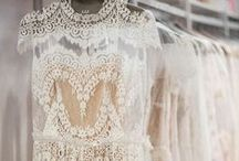 {Inspiration} All About Lace Details / Lace detailing is a timeless addition to any celebration. Whether it's rustic, classic, or modern inspiration you desire... lace has a role to play in any bridal shower, engagement party, or wedding day!