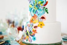 {Trend} Hand Painted Wedding Cakes / Unique hand painted wedding cakes! Perfect way to have your cake stand out!
