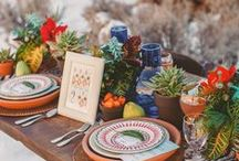 {Theme} Southwestern Inspired Bridal Shower / Be inspired by colorful decor, favors, and accent ideas that would help you recreate a wonderful Southwestern Themed Bridal Shower.