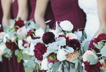 {Trend} Marsala Accents & Wedding Inspiration / Sure to be one of the most talked-about hues in 2015, Pantone's color of the year—Marsala—is a great accent color for weddings of all seasons.