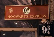 ◬ hogwarts express / The Hogwarts Express is the name of the train that makes a run between London, King's Cross Station Platform 9¾ and Hogsmeade Station. It makes this run at about six times a year, maybe more, as needed.