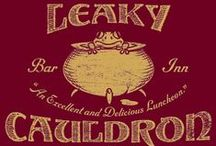"◬ leaky cauldron / The Leaky Cauldron is a popular wizarding pub and inn in London. It is the entrance to Diagon Alley, and, indirectly Knockturn Alley. It was built by Daisy Dodderidge, the first landlady, in the early 1500s. She said that it was, ""to serve as a gateway between the non-wizarding world and Diagon Alley."""