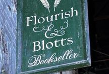 ◬ flourish & blotts / Flourish and Blotts Bookseller is a bookshop in North Side, Diagon Alley. Established in 1454.