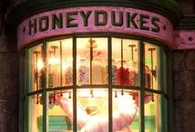 ◬ honeydukes / Honeydukes is a legendary wizarding sweets shop famous for its chocolate and many, wonderful and wild sweets.
