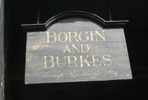 ◬ borgin & burke's / Borgin and Burkes is an antique shop located at 13B, Knockturn Alley, owned by Mr Borgin and Mr Burke, and the shop owners are known to deal with unusual and ancient wizarding artefacts.