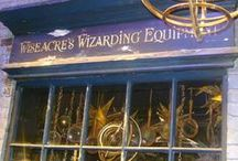 ◬ wiseacre's wizarding equipment / Wiseacre's Wizarding Equipment a shop in North Side, Diagon Alley that sells a wide variety of magical instruments like telescopes and hourglasses.