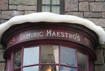 ◬ dominic maestro's / Dominic Maestro's was a music shop in Hogsmeade, run by Dominic Maestro, a musician, who once got an award at Hogwarts, possibly for excelling in music.