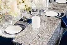 {Theme} Sparkling Silver / All that glitters isn't always gold! Add a beautiful shimmer to your event with these elegant sparkling silver wedding inspirations.