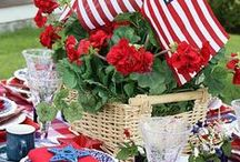 Red White and Blue! / Memorial day, 4th of July decor ideas