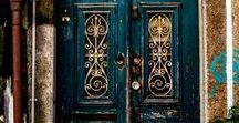 """Doors / """"The door to happiness opens from the inside""""."""