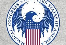 ◬ magical congress of the united states of america / The Magical Congress of the United States of America (shortened MACUSA) is the magical body in charge of governing the wizarding population of the United States of America. It is led by the President of the Magical Congress of the United States of America. Unlike the No-Maj United States Congress, which is divided into a House of Representatives and a Senate, the MACUSA is unicameral. The MACUSA is located within the Woolworth Building in downtown New York City and has hundreds of stories.
