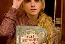 ◬ luna lovegood / Luna Lovegood (b. 13 February, 1981) was a witch, the only child and daughter of Xenophilius and Pandora Lovegood. Her mother accidentally died while experimenting with spells when Luna was nine and Luna was raised by her father, editor of the magazine The Quibbler, in a rook-like house near the village of Ottery St Catchpole.