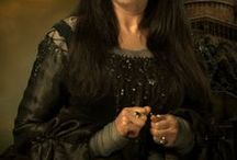 """◬ rowena ravenclaw / Rowena Ravenclaw was a Scottish witch, who lived in the early Middle Ages. Noted for her intelligence and creativity and regarded as one of the greatest witches of the age, Ravenclaw was one of the four founders of Hogwarts School of Witchcraft and Wizardry. She was """"beautiful yet slightly intimidating."""" She died sometime in the eleventh century, after she fell fatally ill. Legend had it that a broken heart is the cause — because her daughter Helena ran away with her diadem."""