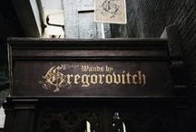 ◬ gregorovitch zauberstäbe / Gregorovitch Zauberstäbe was a wand shop owned and run by Mykew Gregorovitch from sometime between at least 1945 to around 1987. The shop was located somewhere in Europe, its name suggesting it is to be found in a German-speaking area (at least an area historically so).