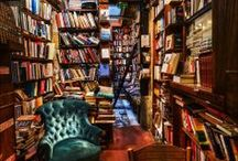 Dream Libraries / One day I will have a room dedicated only to books.  It is unlikely my hubby will ever enter that room. Wall-to-wall bookshelves make him nuts.