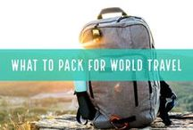 What to Pack for World Travel / The most interesting travel hacks and travel gear that's worth taking on short- and long-term trips around the world. Most of this is gear I carry with me, but also just neat finds I would love to test out and try on the road.  See the full packing list, details, and alternatives here: http://alittleadrift.com/rtw-travel/rtw_packing/