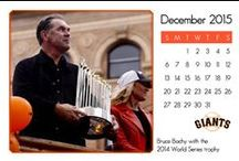 2015 SF Giants Calendar / Month by month through 2015
