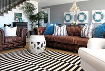 CKInspirationBoard / Color palettes, fabrics and inspiration for CK's main living area.