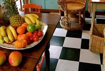 Black & White Checkered Floors