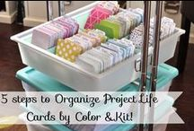 Project Life Organization / Tips for storing your PL stash!