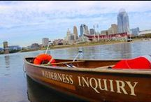 "Canoemobile / Borrowing from the concept of the original Bookmobile, the Canoemobile is a roving fleet of six, 24′ hand-made Voyageur canoes with a crew of skilled environmental educators. Canoemobile's mission is to bring environmental ""literacy"" to urban youth in cities across America by getting them out to experience their local rivers and waterways."
