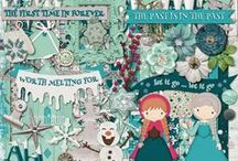 {Ice Princess} Digital Scrapbook Kit by Mgical Scraps Galore / Inspired by the popular story of Elsa and Anna, Ice Sisters is a fantastic collection filled with ice, snow, glitter, snowflakes and beautiful winter-themed patterns, that will add a magical touch to your princess and winter layouts and all your Frozen projects, such as party invites, favors, cards, and so much more!