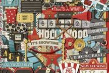{Magical Hollywood} Digital Scrapbook Kit by Magical Scraps Galore / Magical Hollywood is movie-themed kit perfect for recording memories of family movie nights, a night out at the movies, your Hollywood Studios / Universal Studios pictures, or even your little one's recital performances.