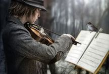 Violins / A symphony of strings and the echo of  Classic beauty polished in the surface Of the wood.