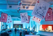 Alice in Wonderland / Fun event theme, Alice in Wonderland. Flying cards, a watch entrance and oversized tea cups.