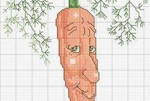 Вот такие овощи и фрукты крестиком