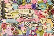 {Mad Tea Party} Digital Scrapbook Kit by Magical Scraps Galore / Come down the rabbit hole and enter the nonsensical Wonderland of Alice with this fun and whimsical collection! Inspired by one of my favorite childhood stories, this kit is perfect to scrap your theme park pictures riding the spinning tea cups or meeting Alice, the Mad Hatter and the White Rabbit, as well as your little girl's favorite costume, an unbirthday tea party, and so much more! Available at Gingerscraps and Scraps-N-Pieces