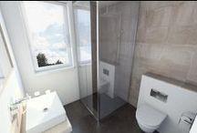 Kleine badkamer / Het inrichten van een kleine badkamer is niet eenvoudig. Er wordt steeds meer waarde gehecht aan comfort en luxe elementen in de badkamer. De eisen en wensen in combinatie met de beperkte ruimte maken het inrichten van een kleine badkamer lastig. Dit bord helpt met voorbeelden van kleine badkamers