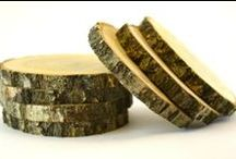 Wood crafts supplies / Wood crafts supplies - wood coasters, unfinished wood blocks and wood tiles.