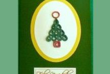 Biglietti di auguri di Natale / Biglietti di auguri realizzati in carta a mano al 100% di cotone
