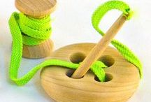 Montessori Toys / Here you will find many great ideas for Montessori wooden toys for kids.